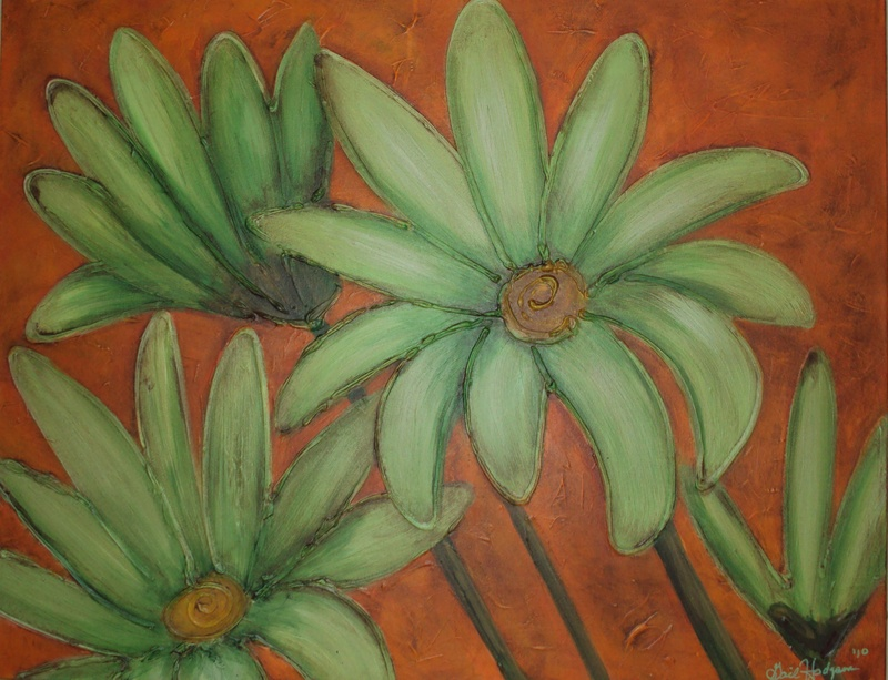 Lime Daisies with Orange 2