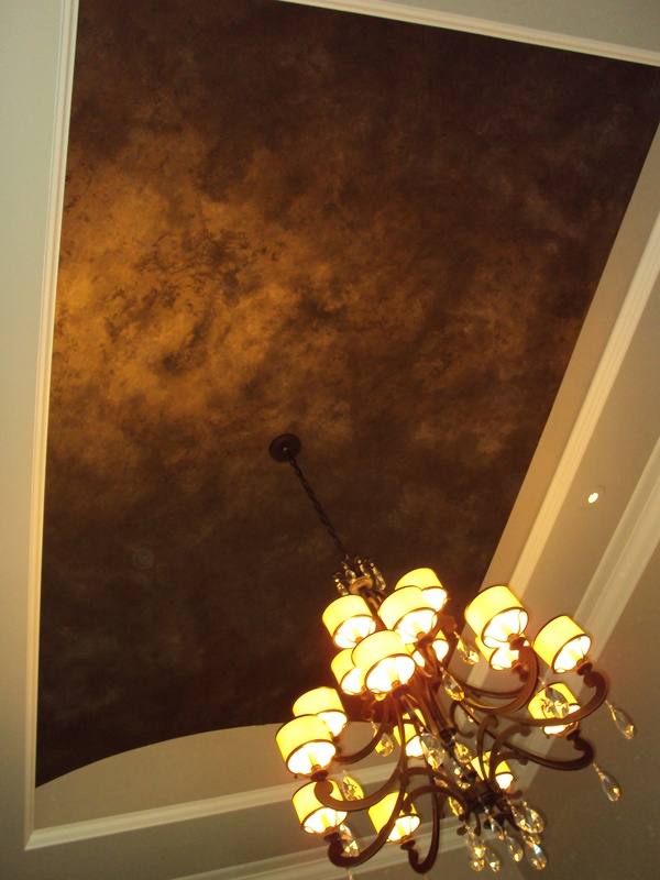 Dramatic Foyer Ceiling Finish